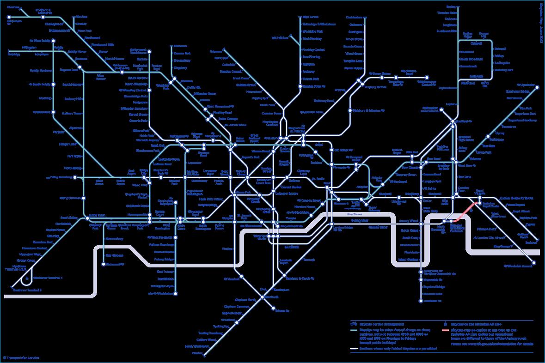 Bicycle tube map