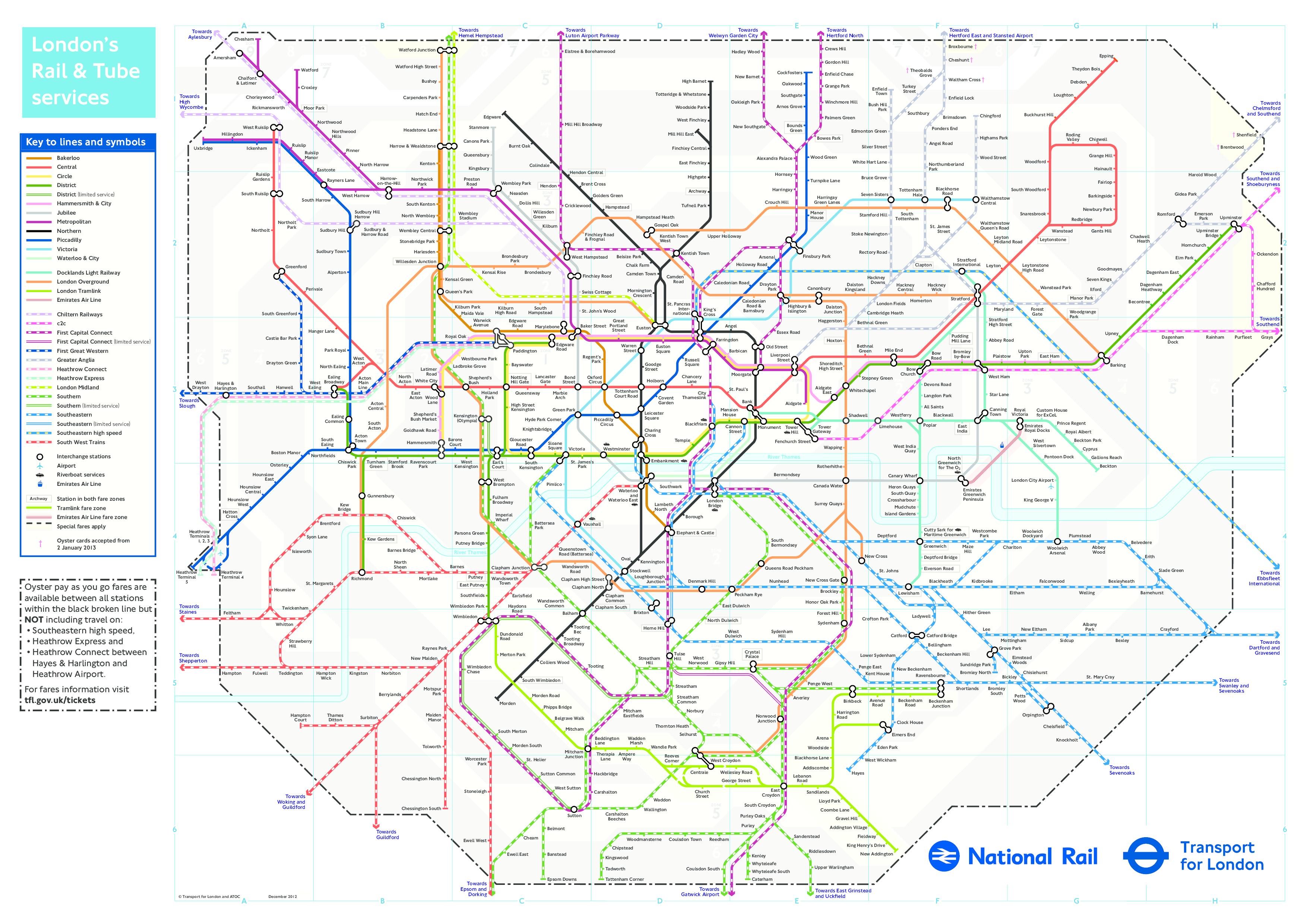 london tube map 2013 pdf