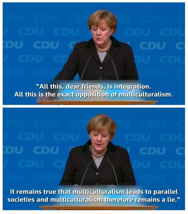 Angel Merkel Multi Cutlurism is a sham
